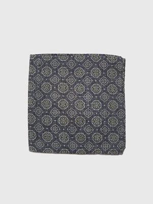 Slipsar - Castor Pollux Panni Hankie Grey Printed Wool