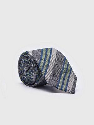 Slipsar - Castor Pollux Croatus Tie Green/Grey Stripe