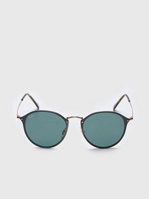 Ray-Ban RB3574N Blaze Round Black/Gold/Green