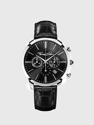 Klockor - Thomas Sabo WA0242 Rebel Spriti Chrono Steel / Leather Black