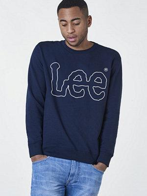 Lee Lee Outline Logo Sweat Navy Drop