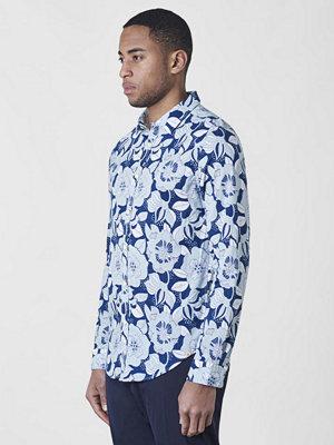 Dstrezzed Indigo Flower Shirt Indigo Blue
