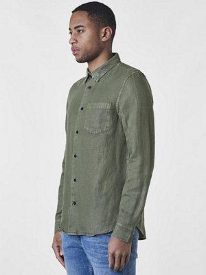 Skjortor - Neuw Drill Cotton Shirt Military