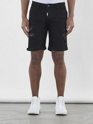 Shorts & kortbyxor - Adrian Hammond Nevada Shorts Black ripped