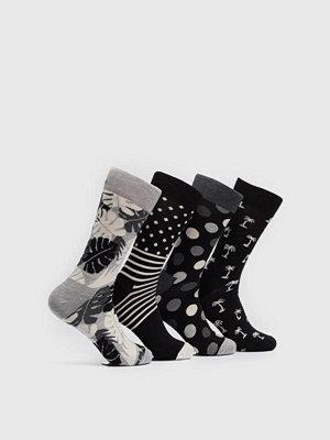 Strumpor - Happy Socks 4-pack Socks Black 9002