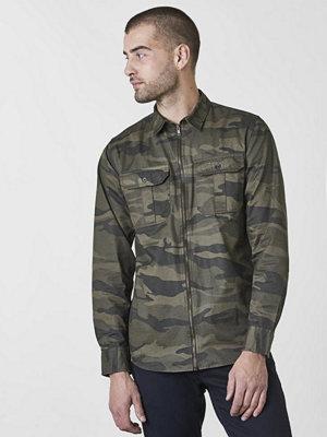 Skjortor - Studio Total Martin Camo Zip Shirt