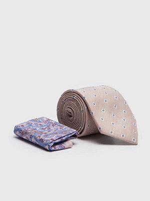 Slipsar - Amanda Christensen Tie & Hankie Box Set Beige