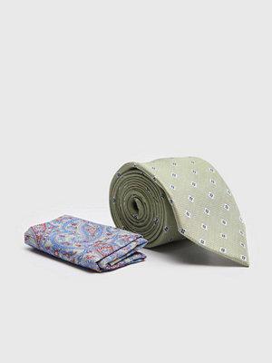 Slipsar - Amanda Christensen Tie & Hankie Box Set Green