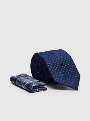 Slipsar - Amanda Christensen Tie & Hankie Box Set Navy