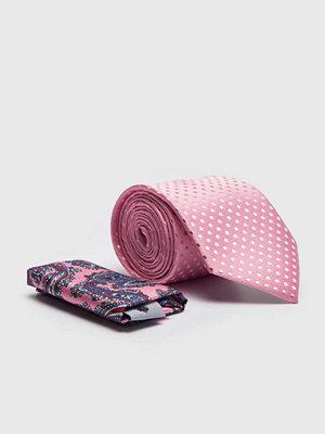 Slipsar - Amanda Christensen Tie & Hankie Box Set Pink