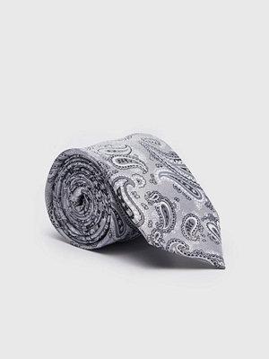 Slipsar - Amanda Christensen Jacquard 8 cm Light Grey