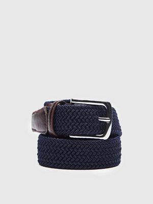 Bälten & skärp - Rage for Leather Luke Stretch Belt 0053 Dk Navy