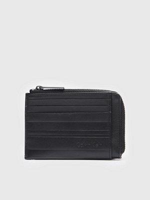 Calvin Klein Stripe Cardholder Ziparound Black