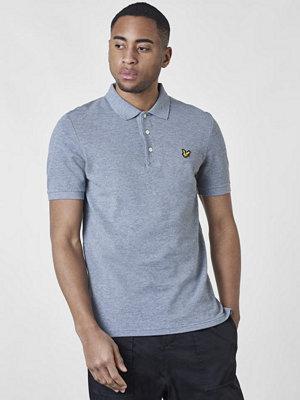 Pikétröjor - Lyle & Scott Plain Polo Shirt T28 Mid grey Marl