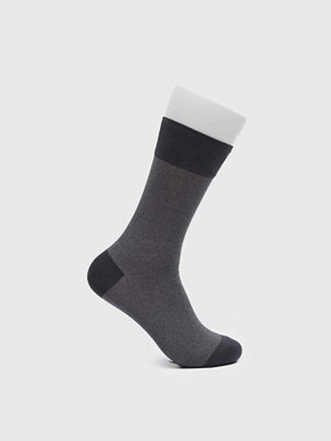 Strumpor - Topeco Dot Mercerized Cotton Socks Antracit Melange