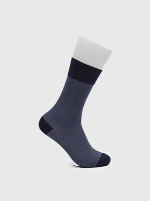 Strumpor - Topeco Dot Mercerized Cotton Socks Navy