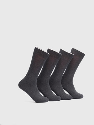 Strumpor - Topeco 4-pack Cotton Socks Antracit Melange