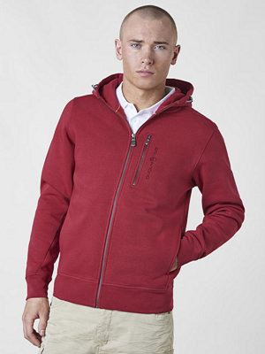 Street & luvtröjor - Sail Racing Bowman Zip Hood 465 Dark Red