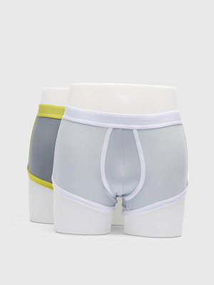 Kalsonger - Kim Denzler 2-pack Classic Underwear 8119 White/Grey-Lemon