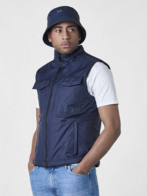 Västar - Woolrich Bering Vest Melton Blue