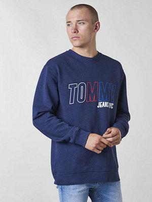 Tröjor & cardigans - Tommy Jeans Vintage Graphic Crew 002 Black Iris