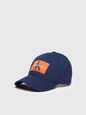 Kepsar - Calvin Klein Monogram Baseball Cap Blue Depths