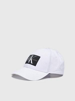 Kepsar - Calvin Klein Monogram Baseball Cap CKJ White