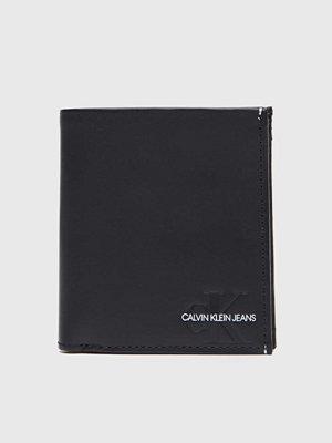 Plånböcker - Calvin Klein Vachetta Square Billdold w Coin Black
