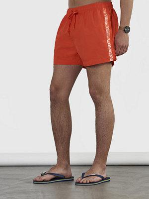 Badkläder - Calvin Klein Underwear Short Drawstring Logo Tape 621 Grenadine