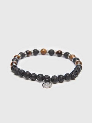 Smycken - by Billgren Bracelet 8160 6mm Black/Brown