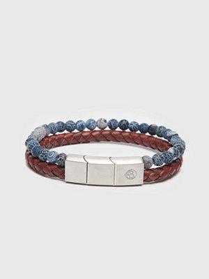 Smycken - by Billgren Bracelet 8149 Red/Blue