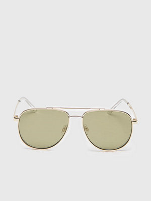 Solglasögon - Le Specs Hard Knock Bright Gold/Khaki Tint Flash