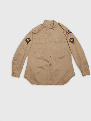 Vintage by Stayhard US Officer Shirt Patch Khaki