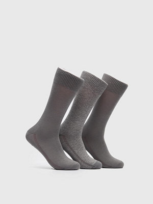 Strumpor - Levi's 168SF Regular Cut 3-pack Socks 758 Middle Grey Melange