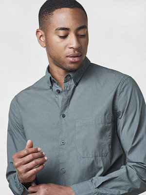Skjortor - Filippa K Peter Washed Poplin Shirt Stone Green