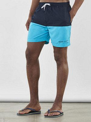 Badkläder - Henri Lloyd Baston Block Swim Short Navy/Scuba Blue
