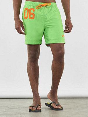 Badkläder - Superdry Water Polo Swim Short Deck Bright Green