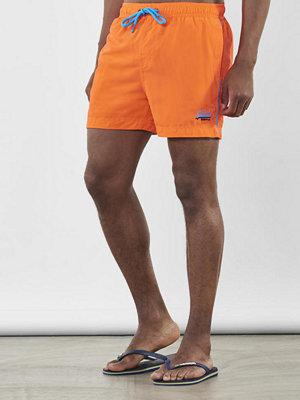Badkläder - Superdry Beach Volley Swim Shorts Havana Orange