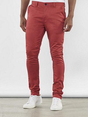 William Baxter Zack Slim Chinos Coral Red