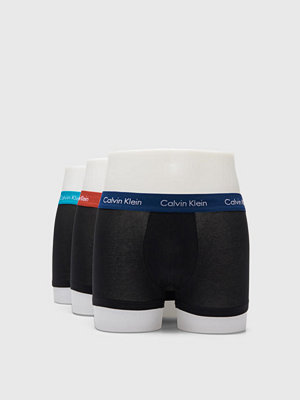Calvin Klein Underwear 3-pack Cotton Stretch Lowrise Trunk WWD Black