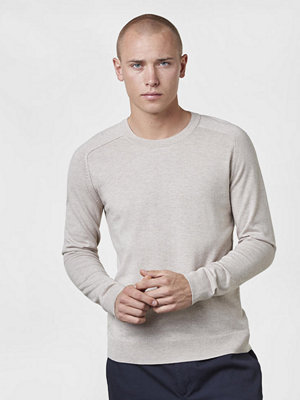 Tröjor & cardigans - Filippa K Cotton Merino Sweater Sand Paper Melange