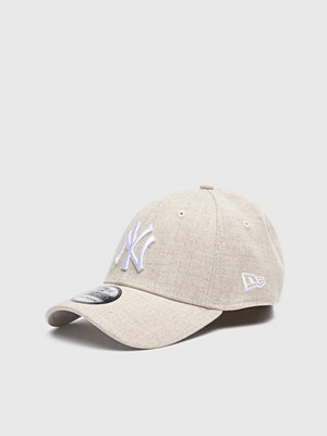 Kepsar - New Era 39Thirty NY Yankees Heather Oat/White