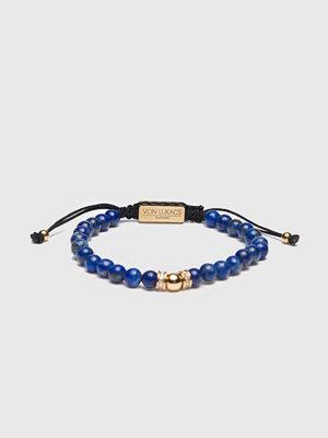 Smycken - Von Lukacs Milano 6mm Lapis lazuli/Gold