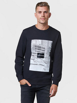 Tröjor & cardigans - Calvin Klein Jeans Pixelated Graphic Crew Neck 099 Black