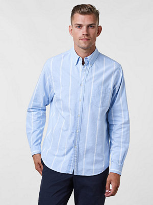 Skjortor - Hope Button Down Shirt Blue Stripe