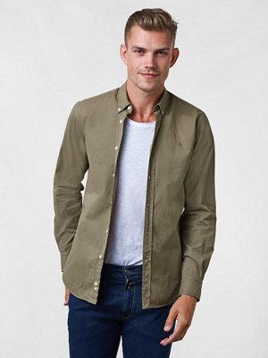 Skjortor - Morris Keene BD Twill Shirt 75 Olive