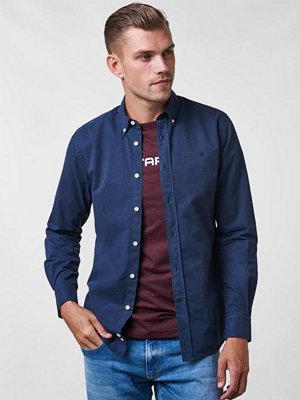 Skjortor - Morris Keene BD Twill Shirt 62 Navy