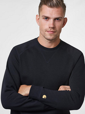 Carhartt Chase Sweat Shirt Black / Gold