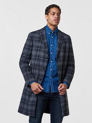 William Baxter Dean Wool Coat Plaid Black/Grey