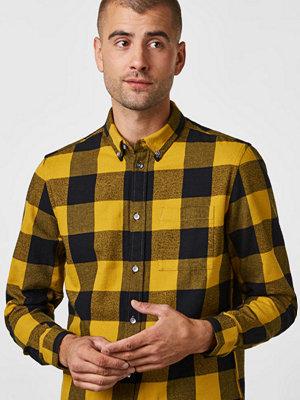 Skjortor - WESC Olavi Plaid Mustard